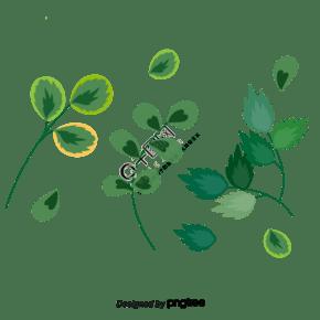 春天綠色樹葉