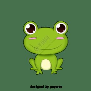 可爱绿色卡通青蛙