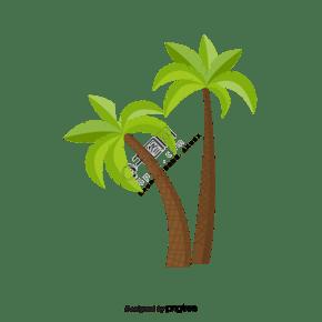 熱帶棕櫚樹clipart元素