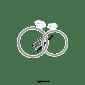 银色简单风格新婚戒指