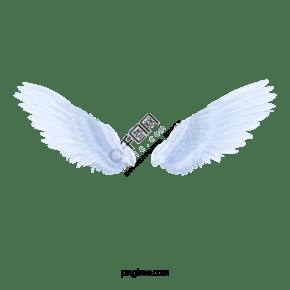 日本动漫风格银色飞翔翅膀