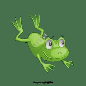 绿色的卡通青蛙