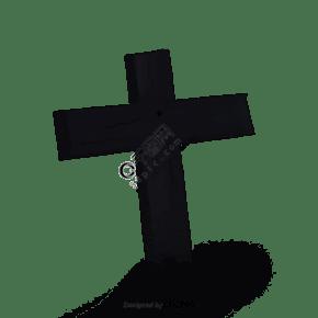 黑色十字架石碑