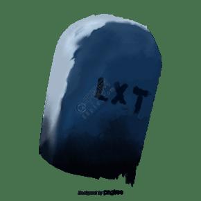 藍色夜晚萬圣節石碑