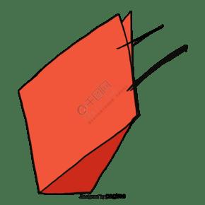 橘色购物袋