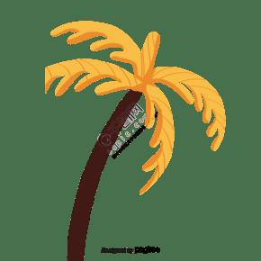 卡通黃色的樹