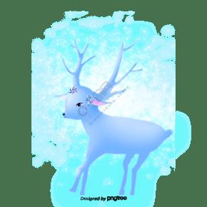 卡通发光的小鹿