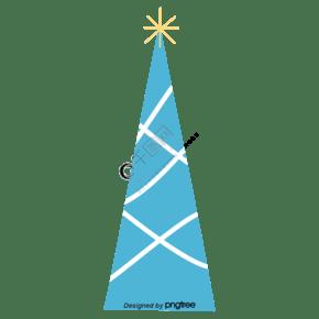 蓝色顶部发光的树