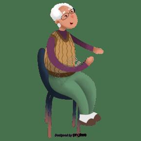 坐在椅子上的老人