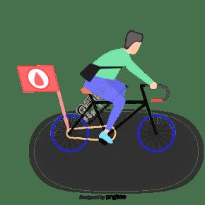 愛護環境騎自行車旗子