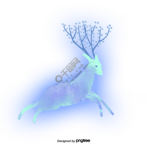 发光的梅花鹿