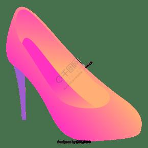渐变女性高跟鞋