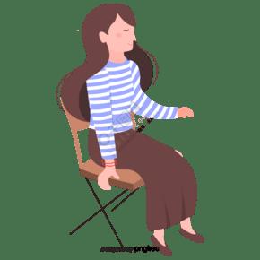 坐在椅子上的女性