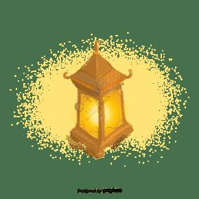 卡通中国风古代油灯