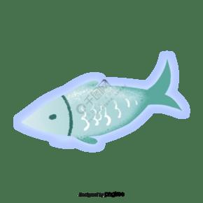 蓝色的发光的鱼