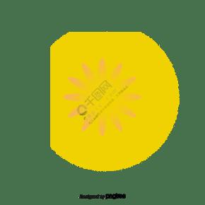 黄色发光的卡通菊花