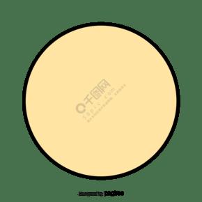 淡黄色的圆形图案
