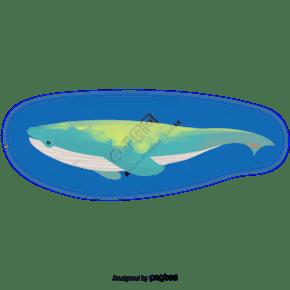 蓝色卡通鲸鱼