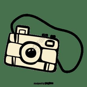 手绘照相机元素