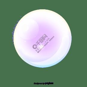 紫色发光的卡通气泡