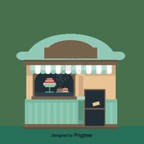 卡通風格蛋糕店店鋪