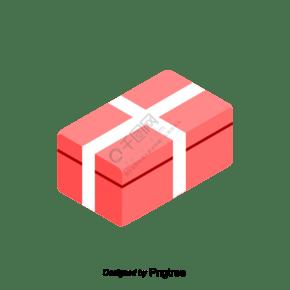 紅色包裝盒促銷購物