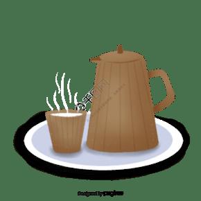 卡通風格水壺水杯