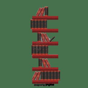 卡通风格书本书架