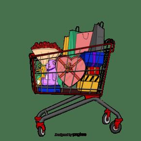 購物車購物禮盒花束