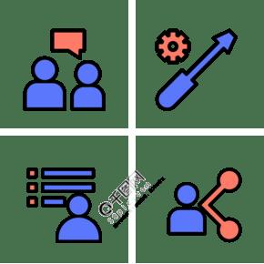 商務人物圖標圖片