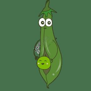 可愛表情卡通蔬菜矢量素材