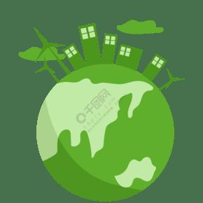 城市建筑與地球素材