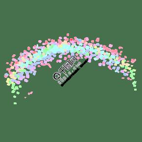 夢幻彩虹背景素材