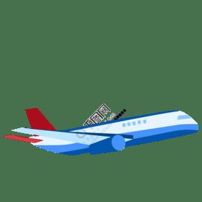 飛機出差旅游矢量素材圖片
