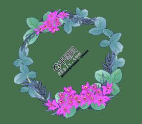 花卉邊框圖片