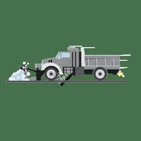 卡通推土車造型元素