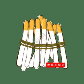 世界無煙日手繪卡通圖標