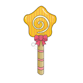 黄色棒棒糖卡通手绘插画