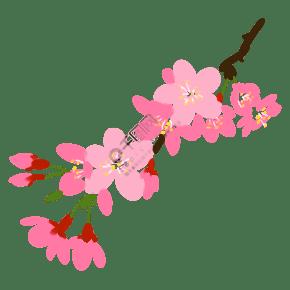 粉色的樱花装饰手绘