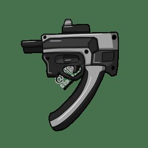 黑色新式小手槍插畫