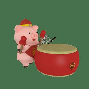 c4d立體紅色的鼓免費下載