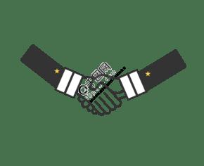 黑白色系商务合作握手