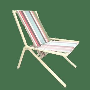 木质花纹布料躺椅