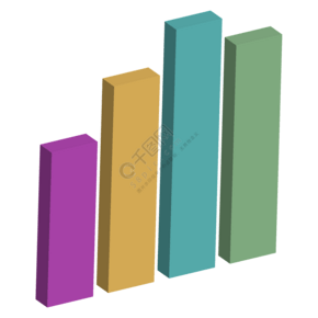 商务矢量立体柱状图