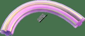 618彩色立体装饰线条C4D