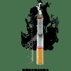 世界無煙日燃燒的香煙素材