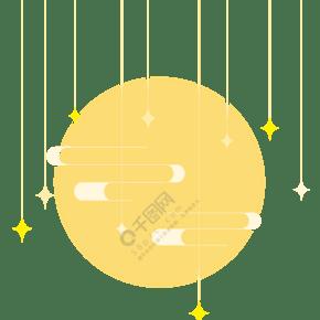 中秋节月亮星星背景