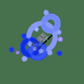 紫色蓝色星星效果