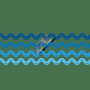 藍色矢量通用波浪裝飾