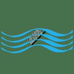 藍色矢量通用波浪線裝飾